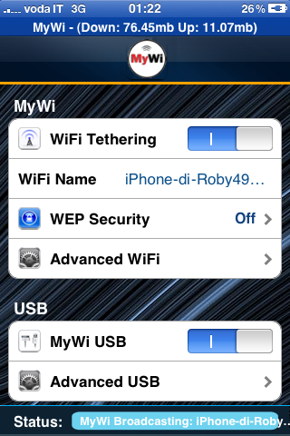 vodafone tethering iphone costi