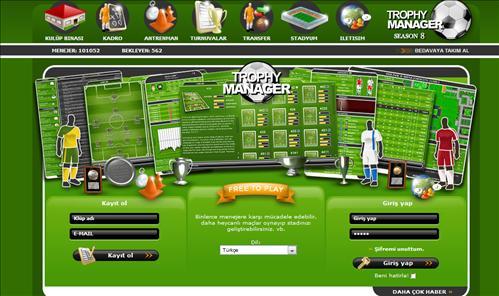 La schermata principale di Trophy Manager