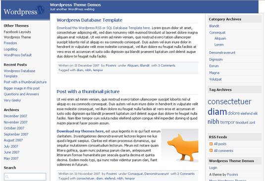 Facebook wp theme