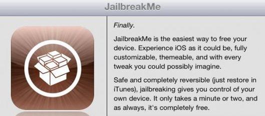 JailbreakMe-Cydia